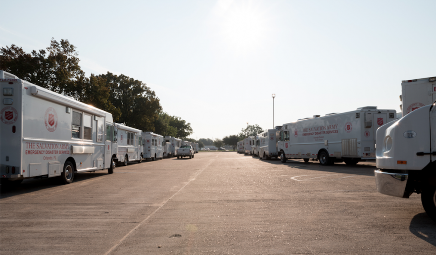 Salvation Army Mobile Fleet arriving in Houston for Harvey relief